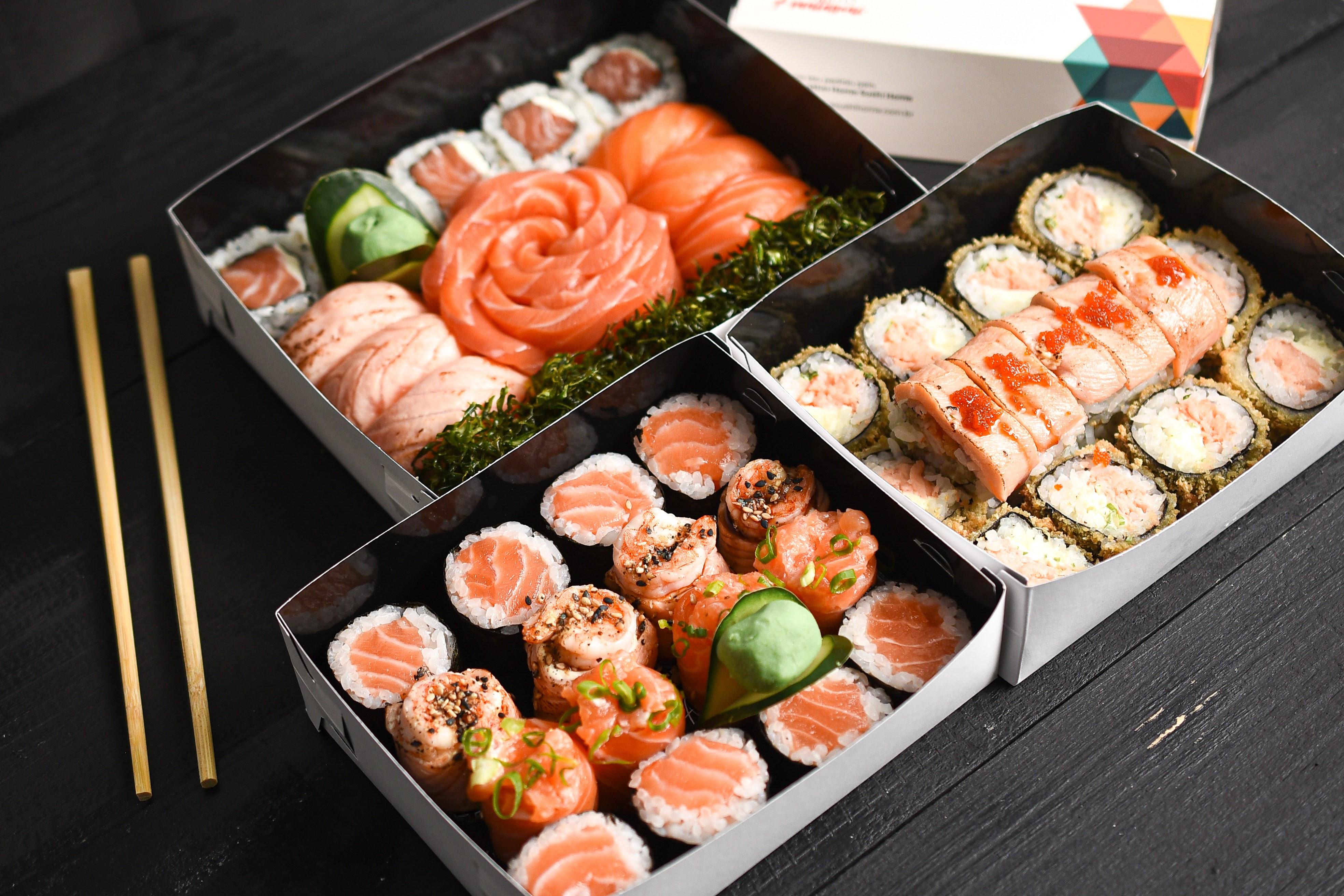 Home Sushi Home: combos variados, inclusive com opções fitness e vegana
