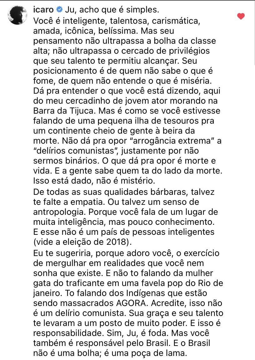 Icaro Silva texto