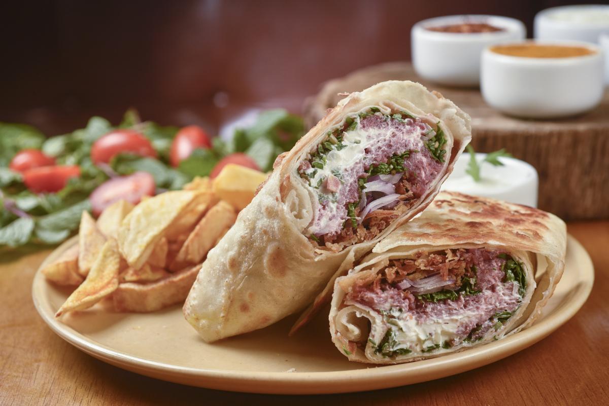 Kebab do Mohamed: quibe cru no recheio