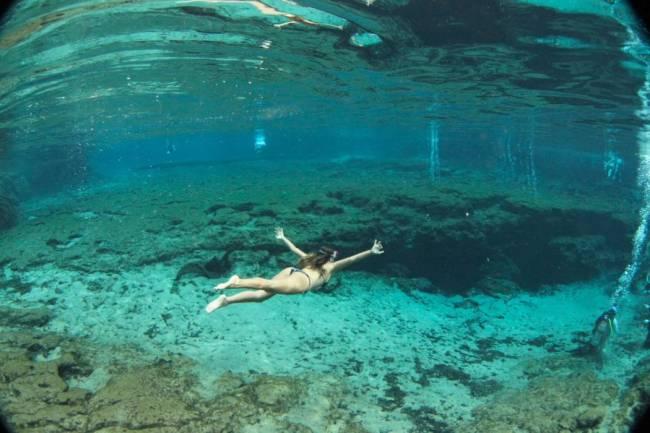 E a nascente embaixo d'água