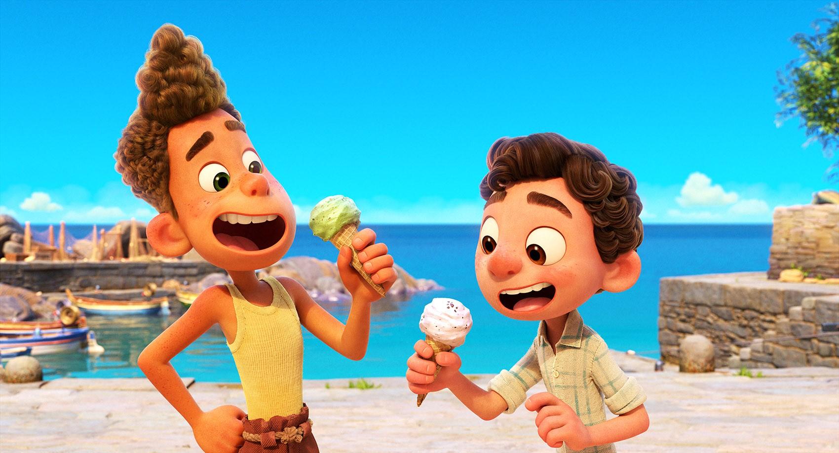 Animação do filme Luca