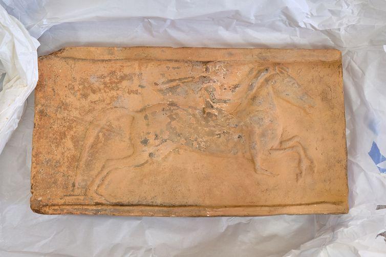 Tijolo arquitetônico do período greco-romano