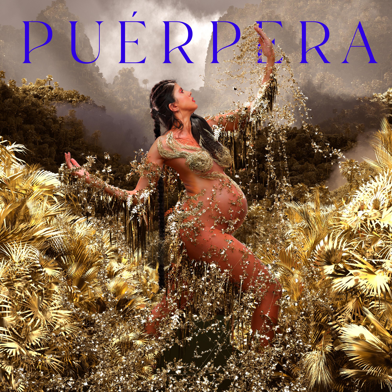 Capa do disco Puérpera, de Lila, traz a cantora grávida na mata