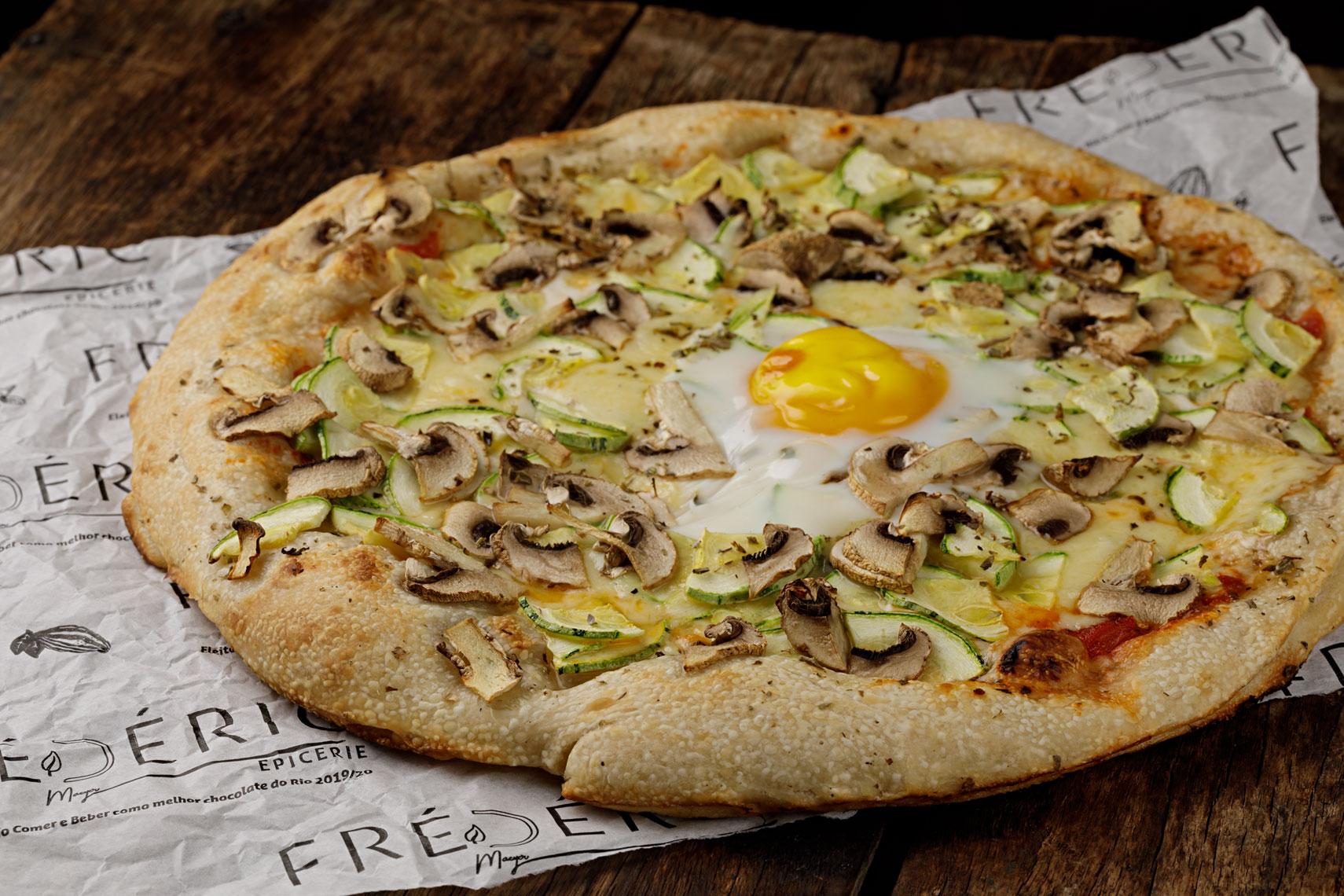 Frédéric Epicerie: pizza de cogumelos