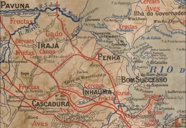 Mapa da Zona da Leopoldina em 1911
