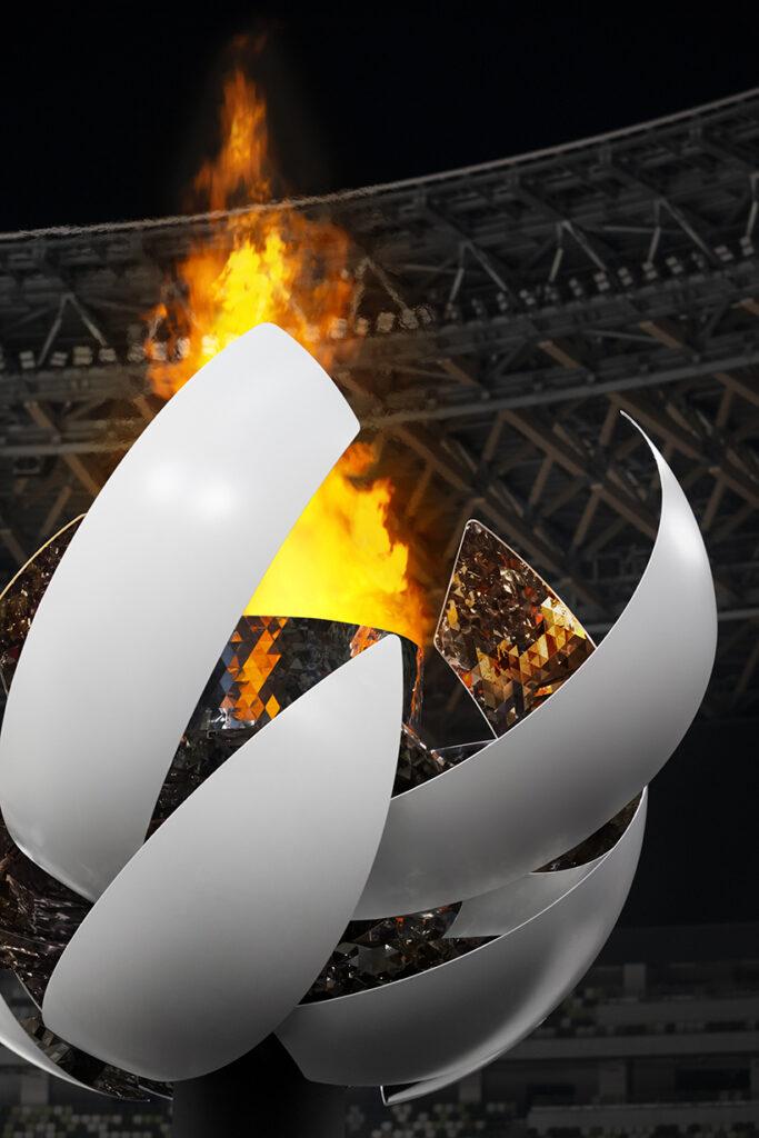 tokyo olimpiada pira 2020 pira olimpica japao design