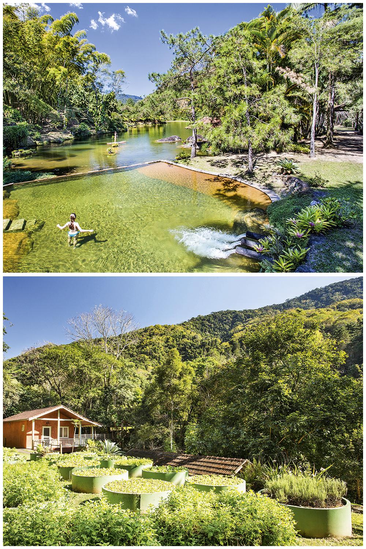 Piscinas naturais e hortas orgânicas no Villa São Romão, em Lumiar: aumento de 50% nas reservas e maior procura pelas áreas ao ar livre -