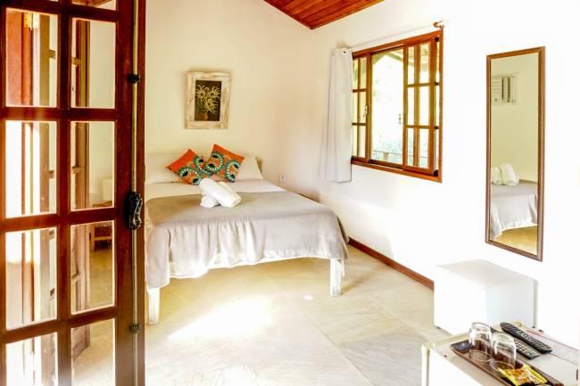 O quarto com varanda da Casa Cactus