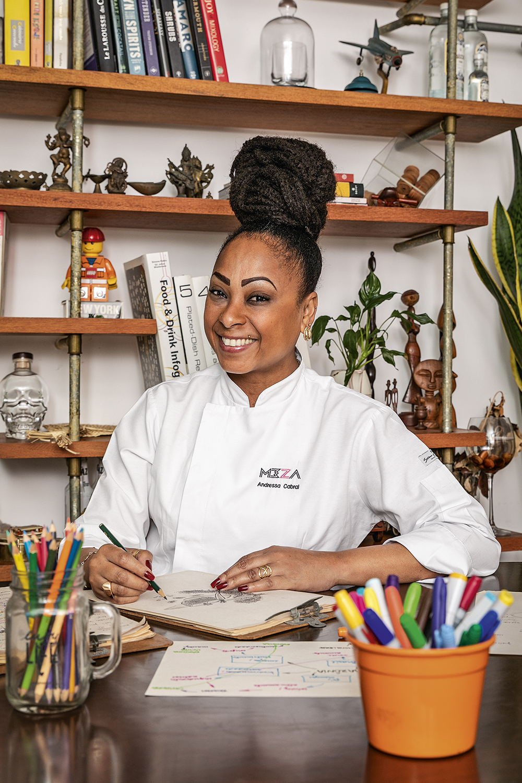 """Andressa Cabral, chef do Meza Bar: """"Quando você desenha, deixa visível à equipe o que está pensando e otimiza o processo criativo"""" -"""