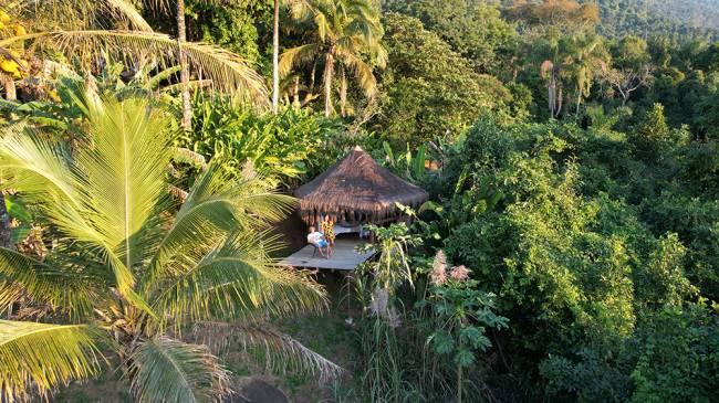 Nossa cabana no Jungle Lodge Ilha Grande
