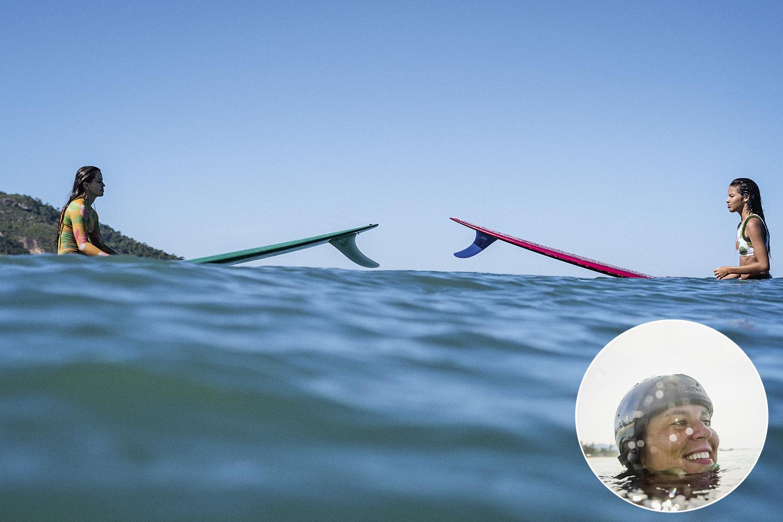 Anna Verônica (no detalhe): os trabalhos no mar vão dar origem ao filme By Women -