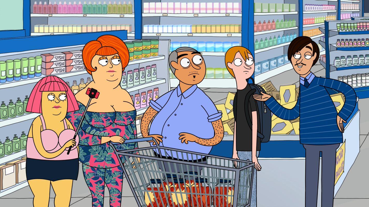 Personagens da animação Familia Pharmaco
