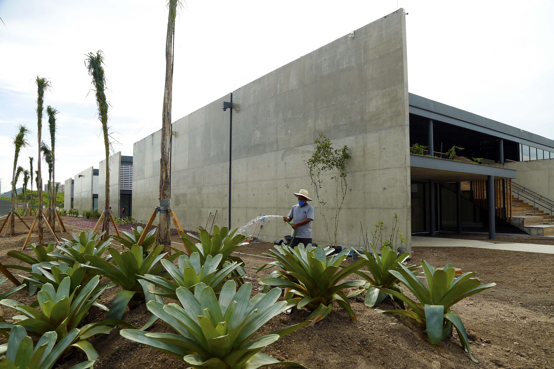 Jardim do novo Museu do Pontal