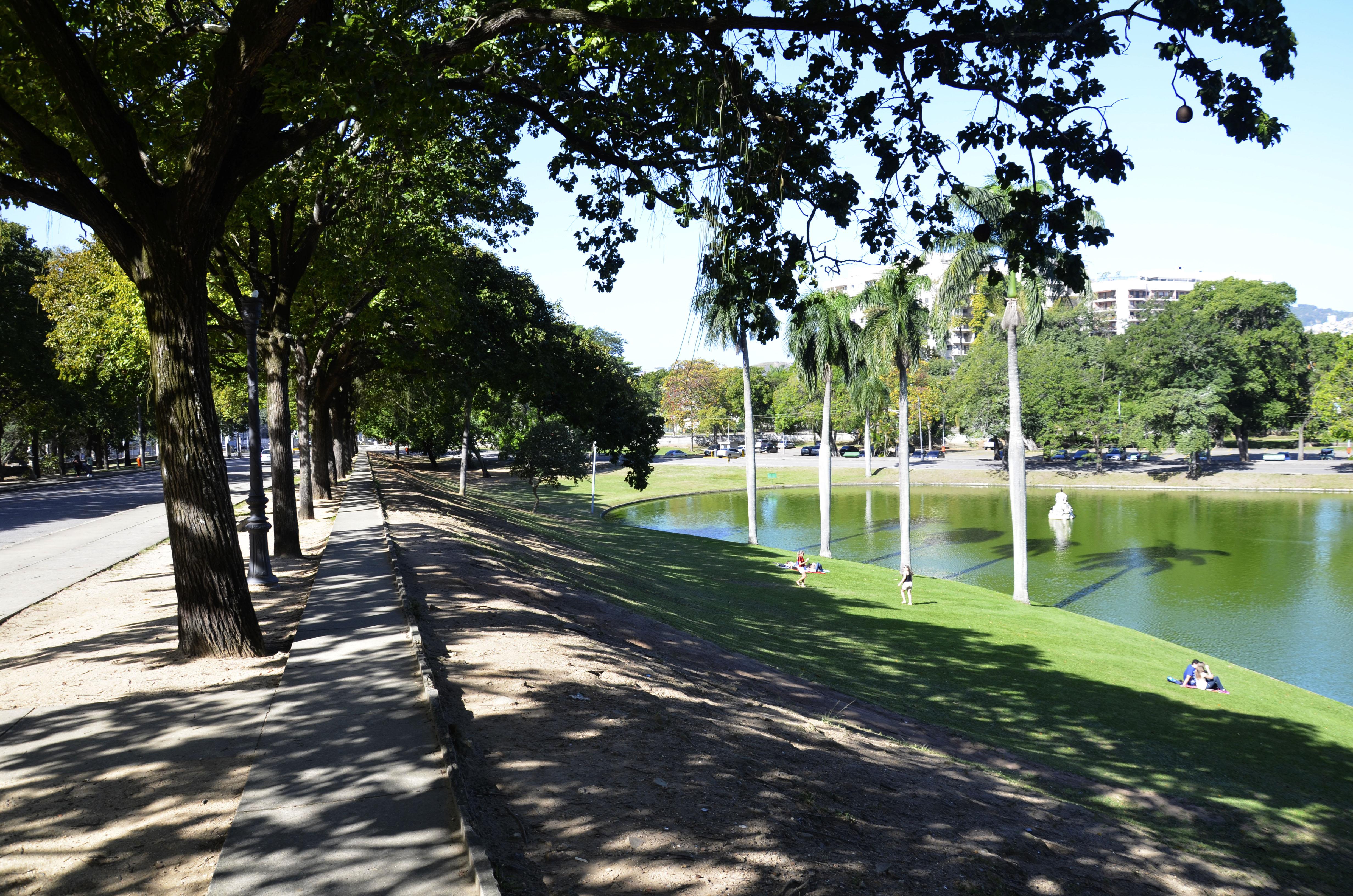 Foto mostra a lagoa na Quinta da Boa Vista
