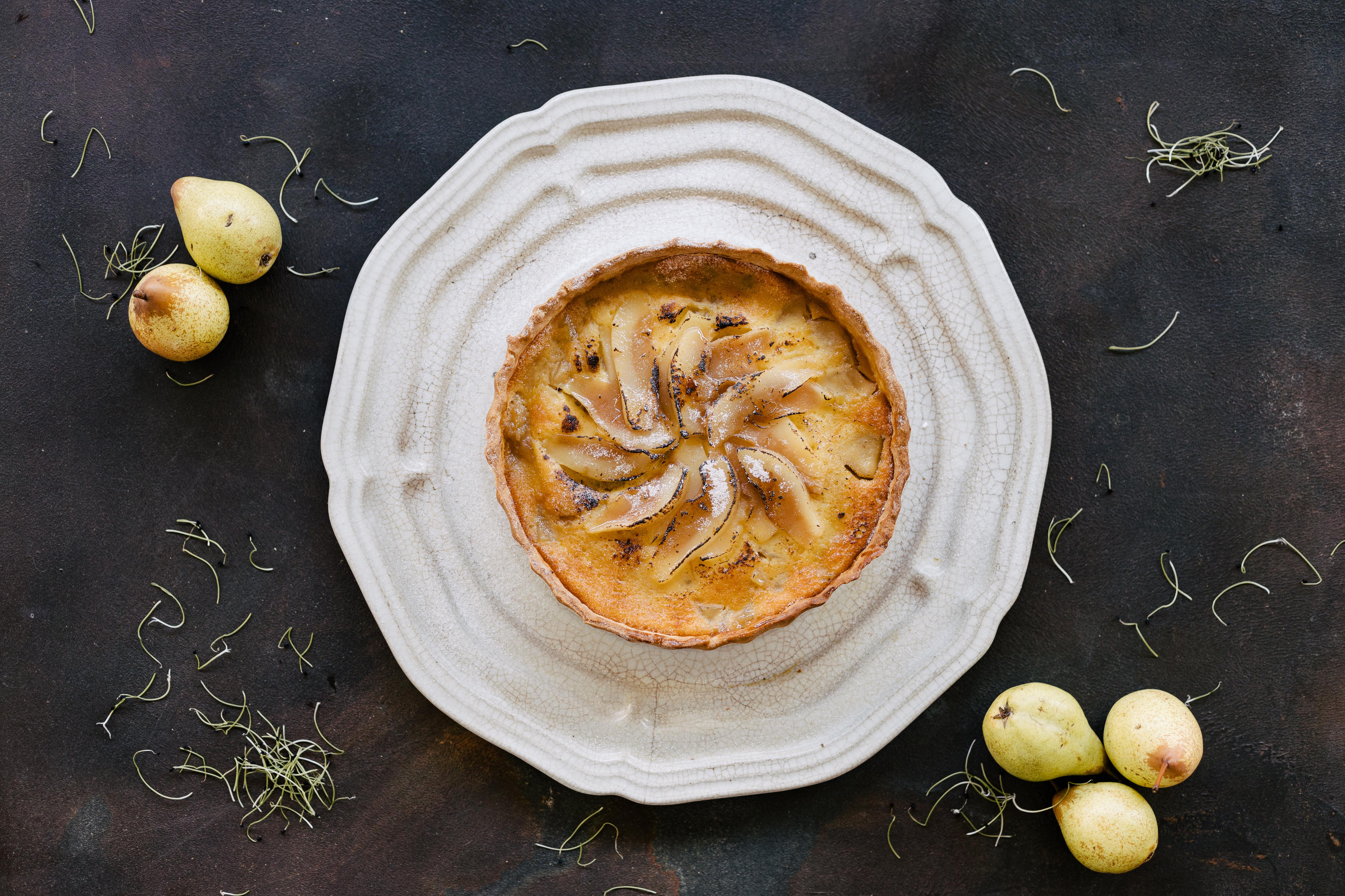Tarte de peras: e mel dica para o lanche e sobremesa
