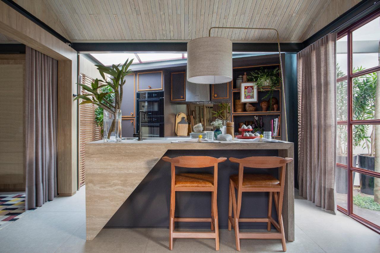 casacor ribeirão preto 2019 cozinha retrô vintage decoração casa burgundy