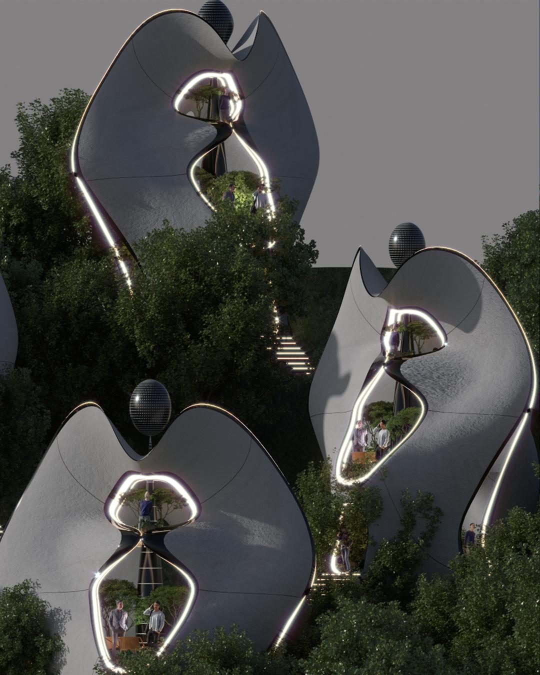 Estruturas modulares na Itália tem design sustentável surpreendente