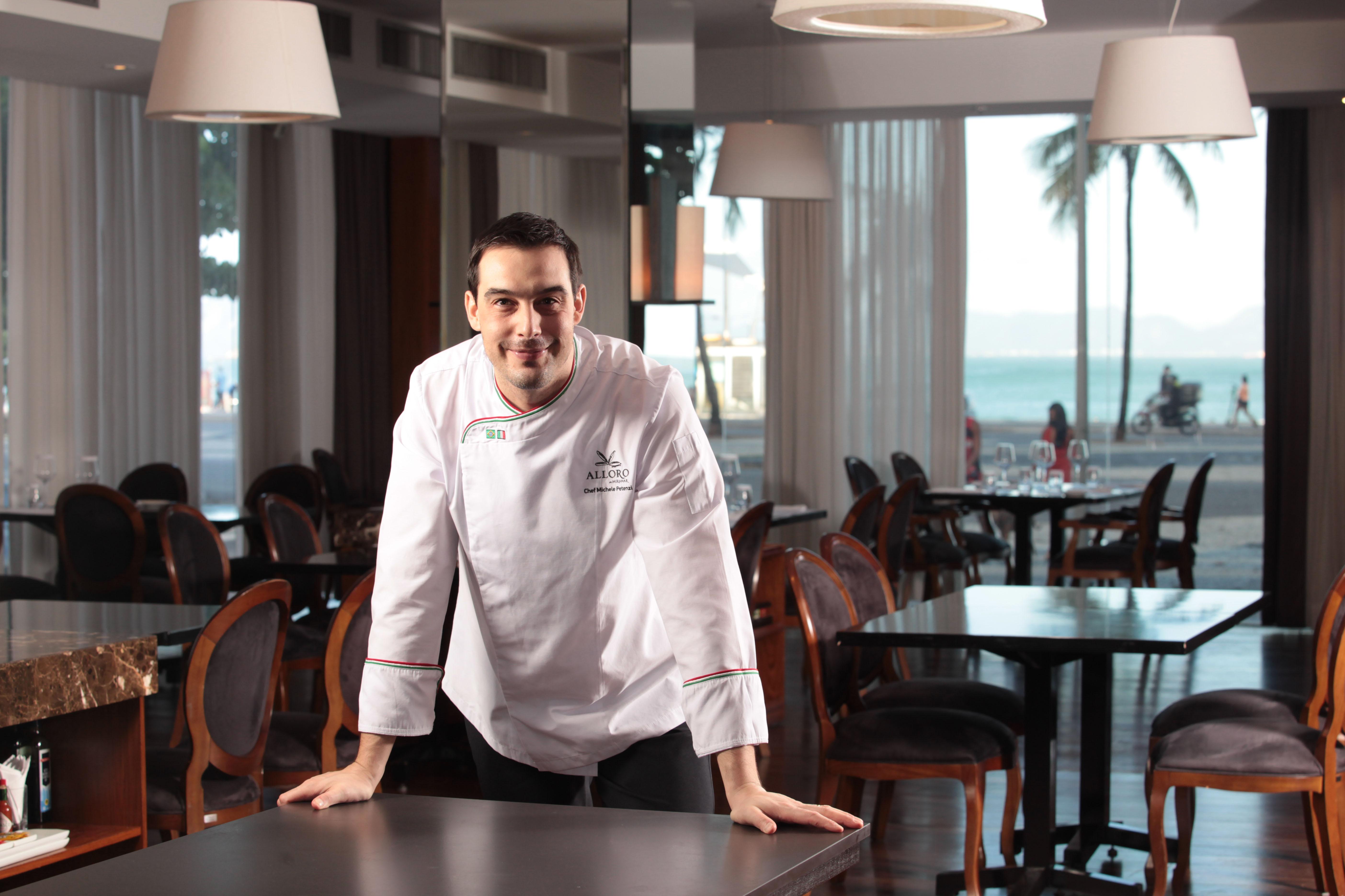 Michele Petenzi: à frente da cozinha do italiano