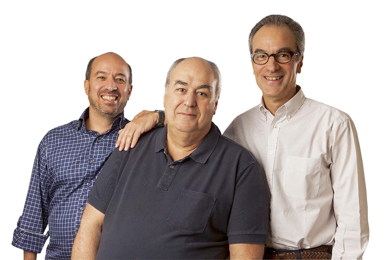 José Roberto, Roberto Irineu e João Roberto Marinho