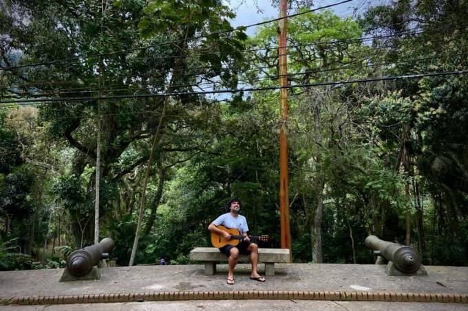 Pedro Miranda no Parque da Gavea