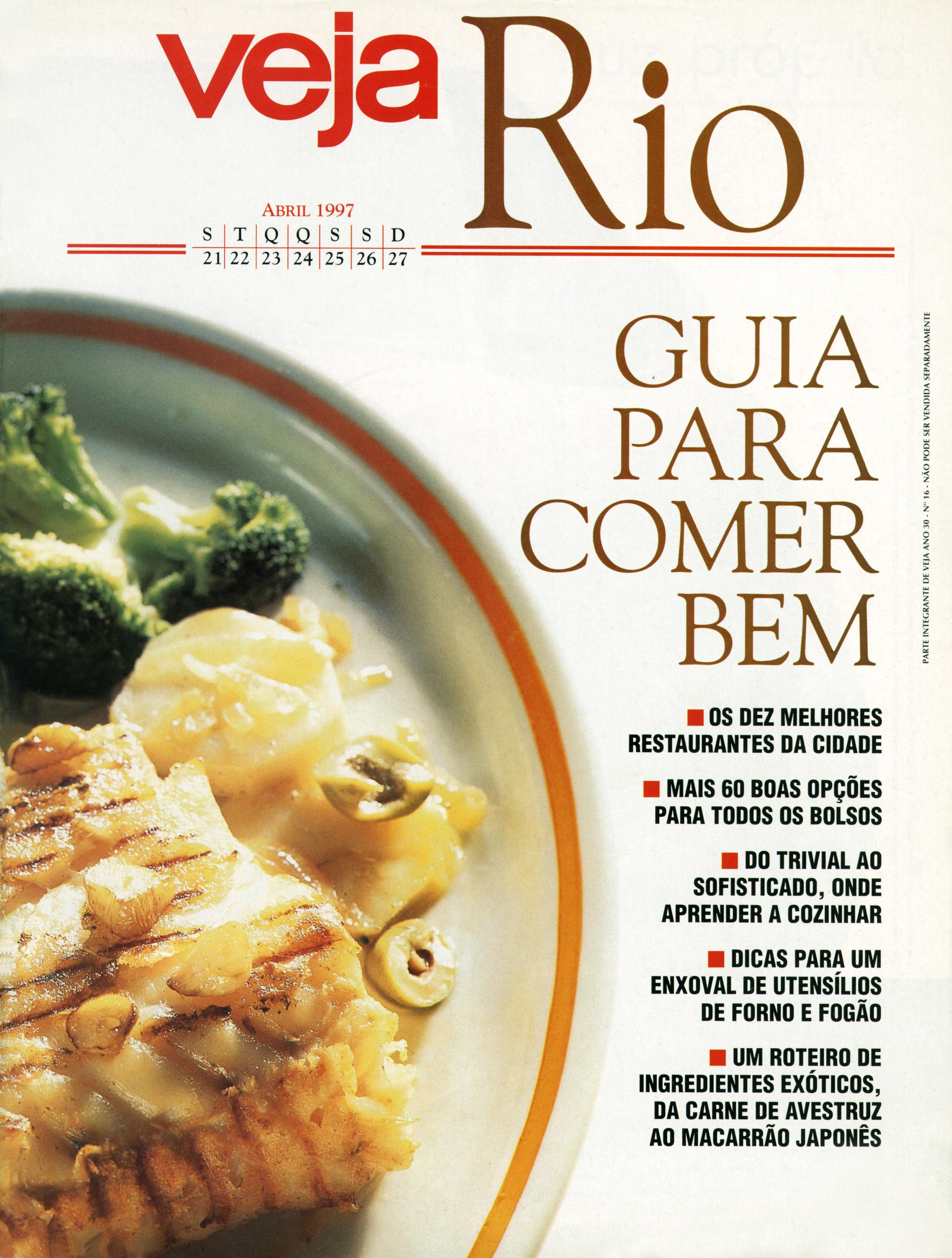 Capa da revista Veja Rio Especial Guia Para Comer Bem, edição 1492, de 23 de abril de 1997