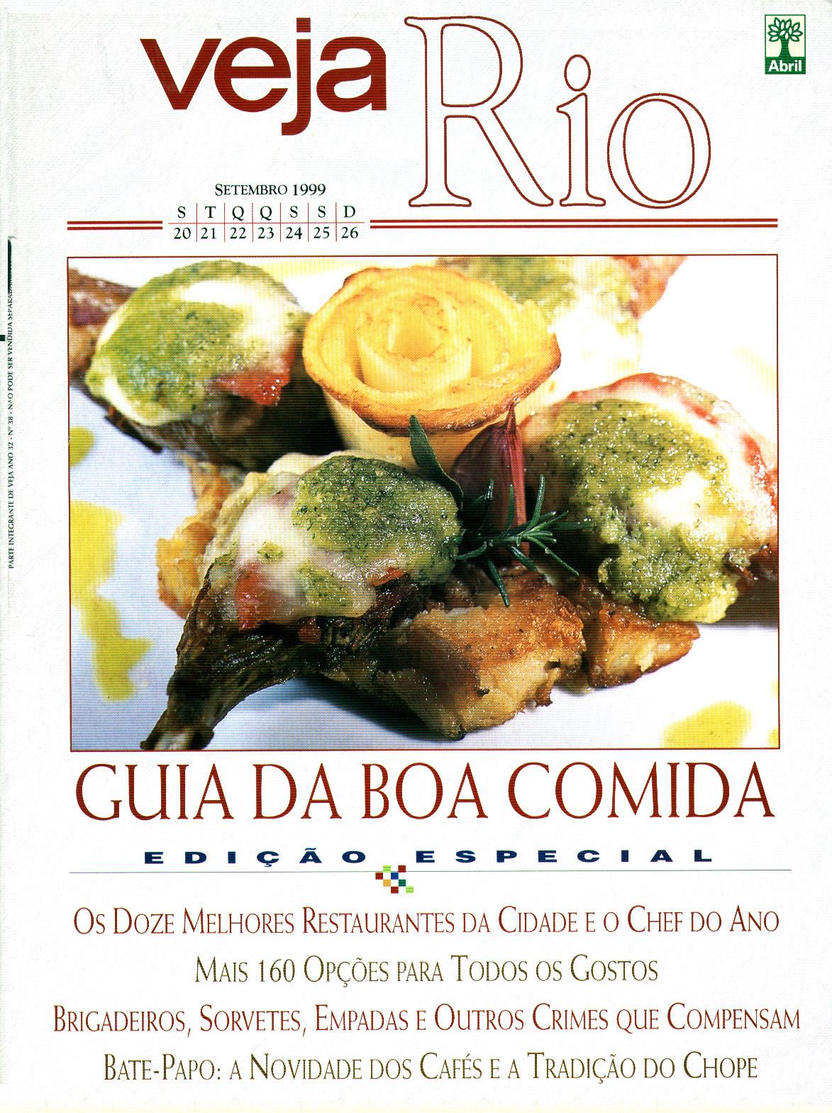 Capa da revista Veja Rio Especial Guia da Boa Comida, de 22 de setembro de 1999