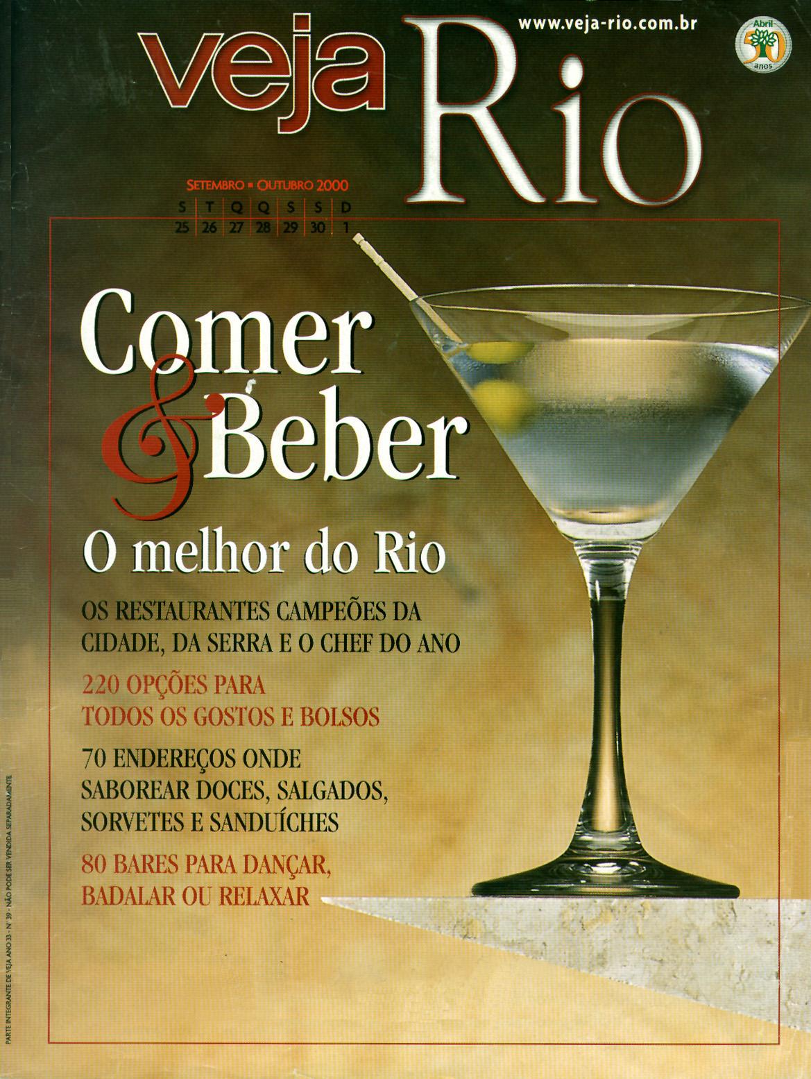 Capa da revista Veja Rio Especial Comer & Beber, de 27 de setembro de 2000