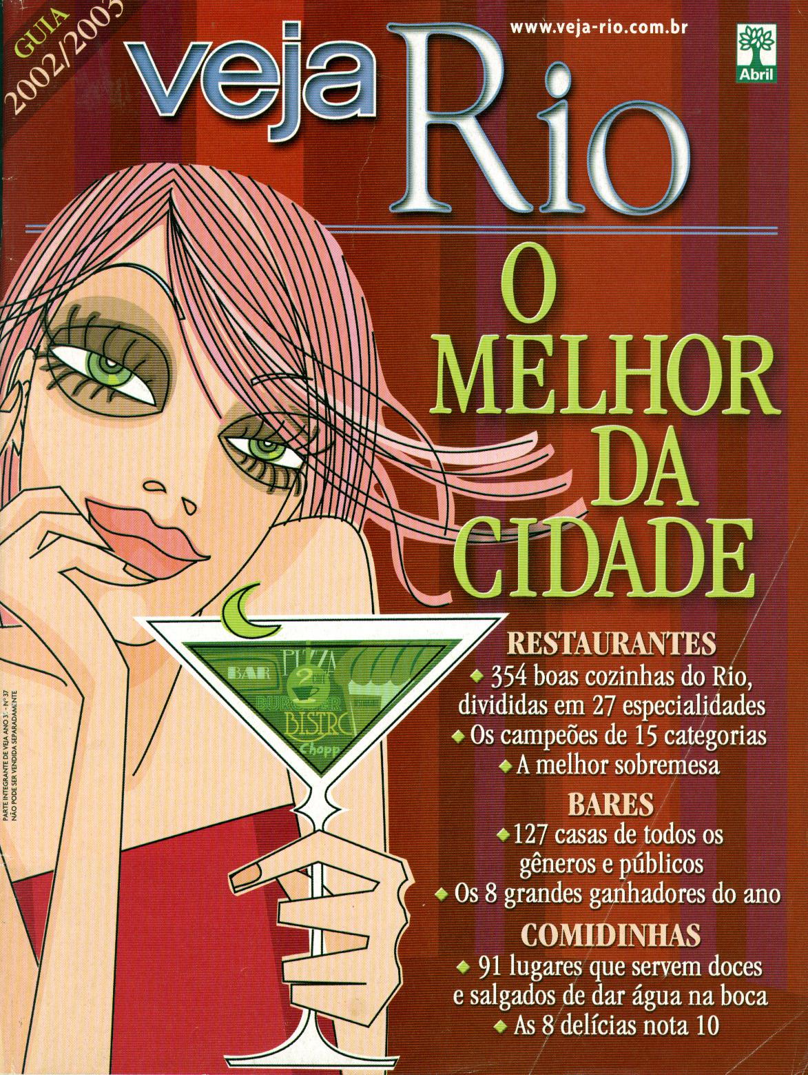 Capa da revista Veja Rio Especial O Melhor da Cidade, de 18 de setembro de 2002
