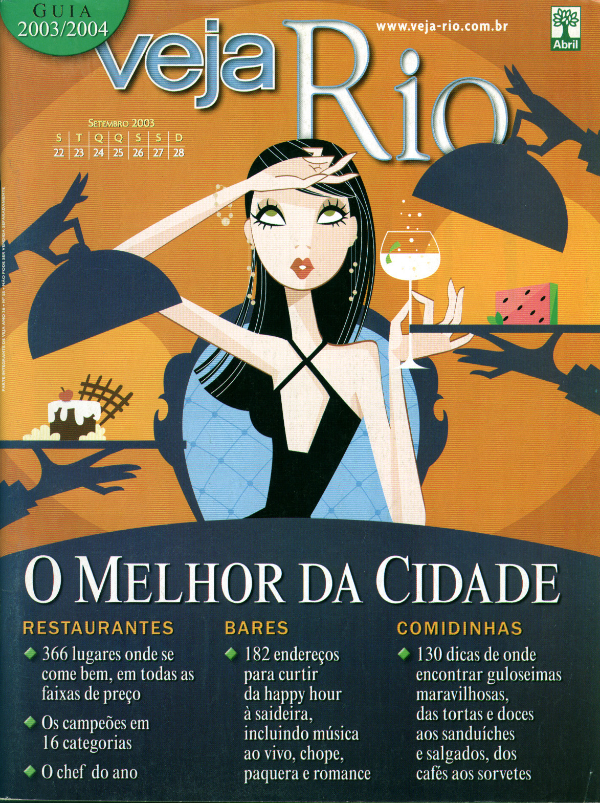 Capa da revista Veja Rio Especial O Melhor da Cidade, de 24 de setembro de 2003