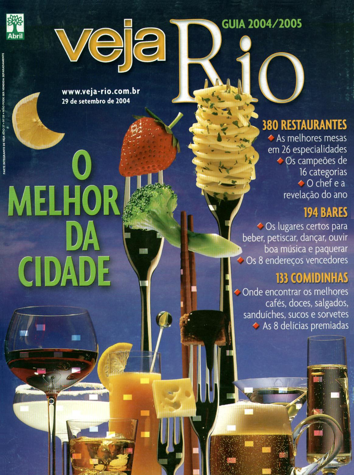 Capa da revista Veja Rio Especial O Melhor da Cidade, de 29 de setembro de 2004