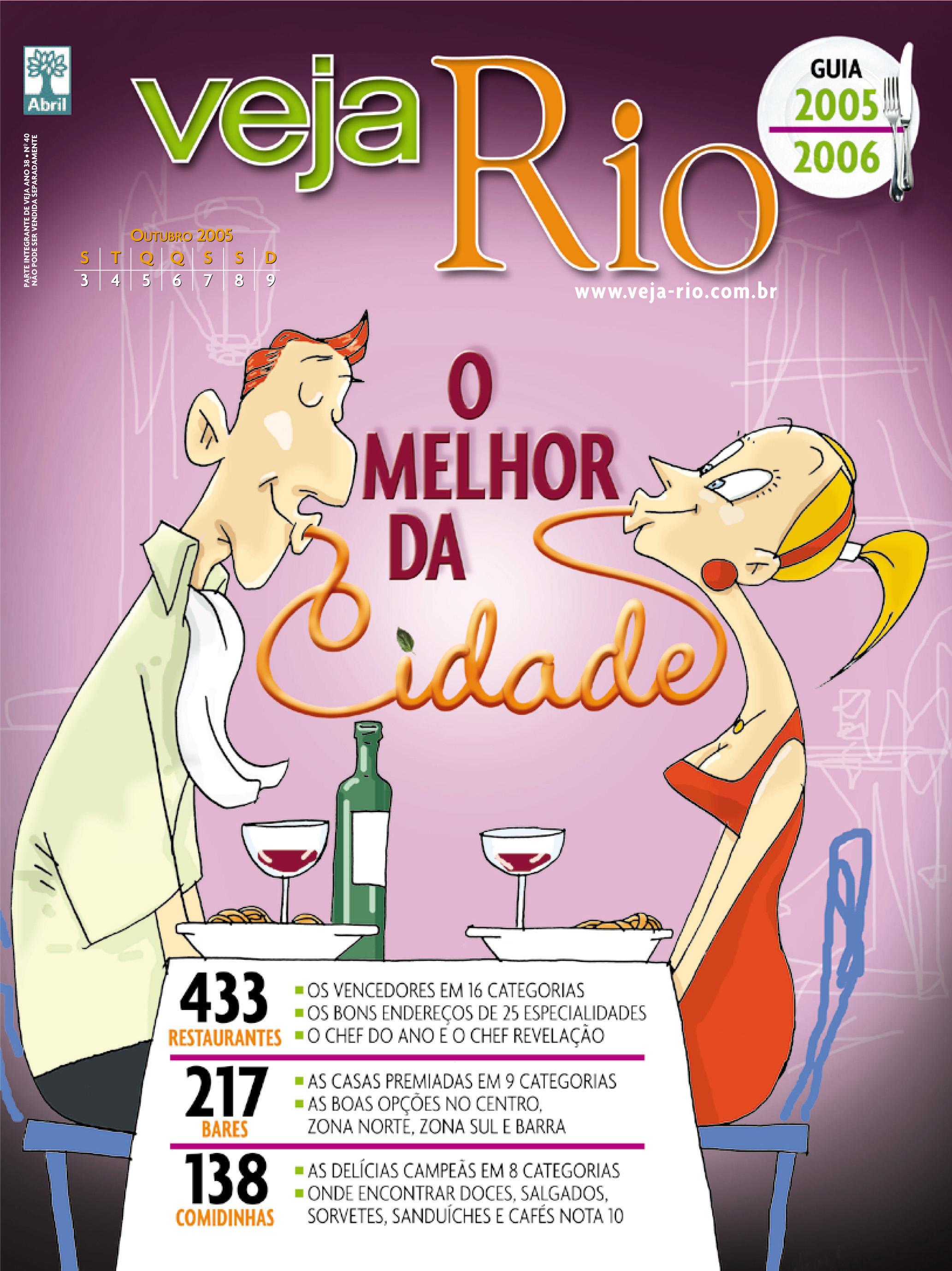 Capa da revista Veja Rio Especial O Melhor da Cidade, de 05 de outubro de 2005