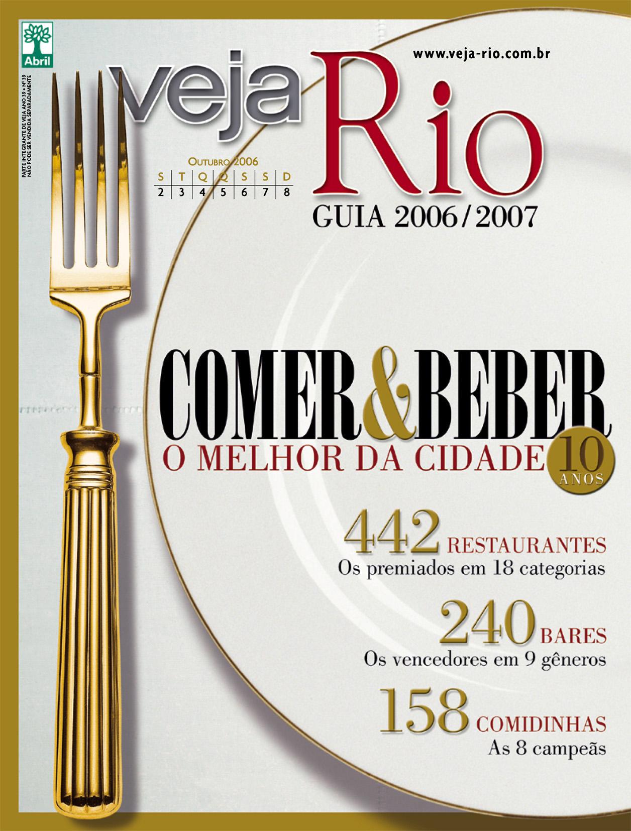 Capa da revista Veja Rio Especial O Melhor da Cidade, de 4 de outubro de 2006