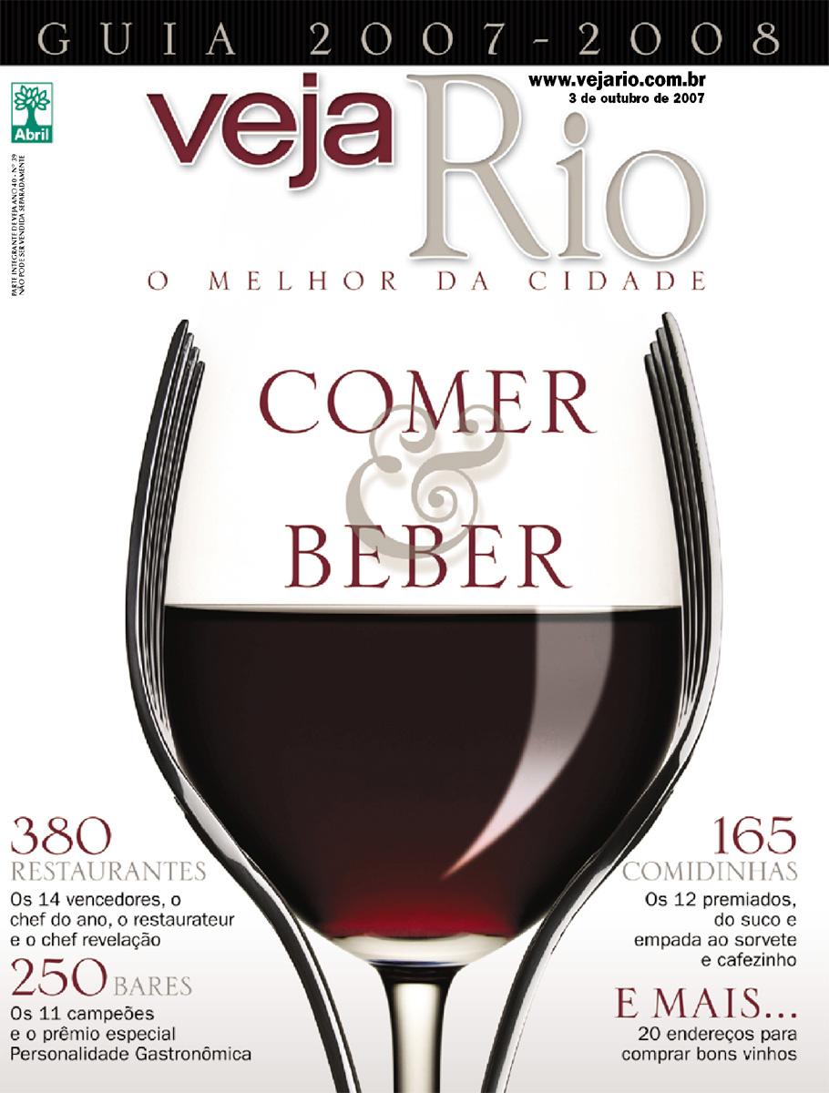 Capa da revista Veja Rio Especial Comer & Beber o Melhor da Cidade, edição 2028, de 03 de outubro de 2007