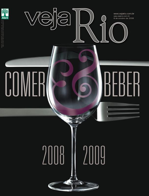 Capa da revista Veja Rio Especial Comer & Beber, edição 2081, de 08 de outubro de 2008