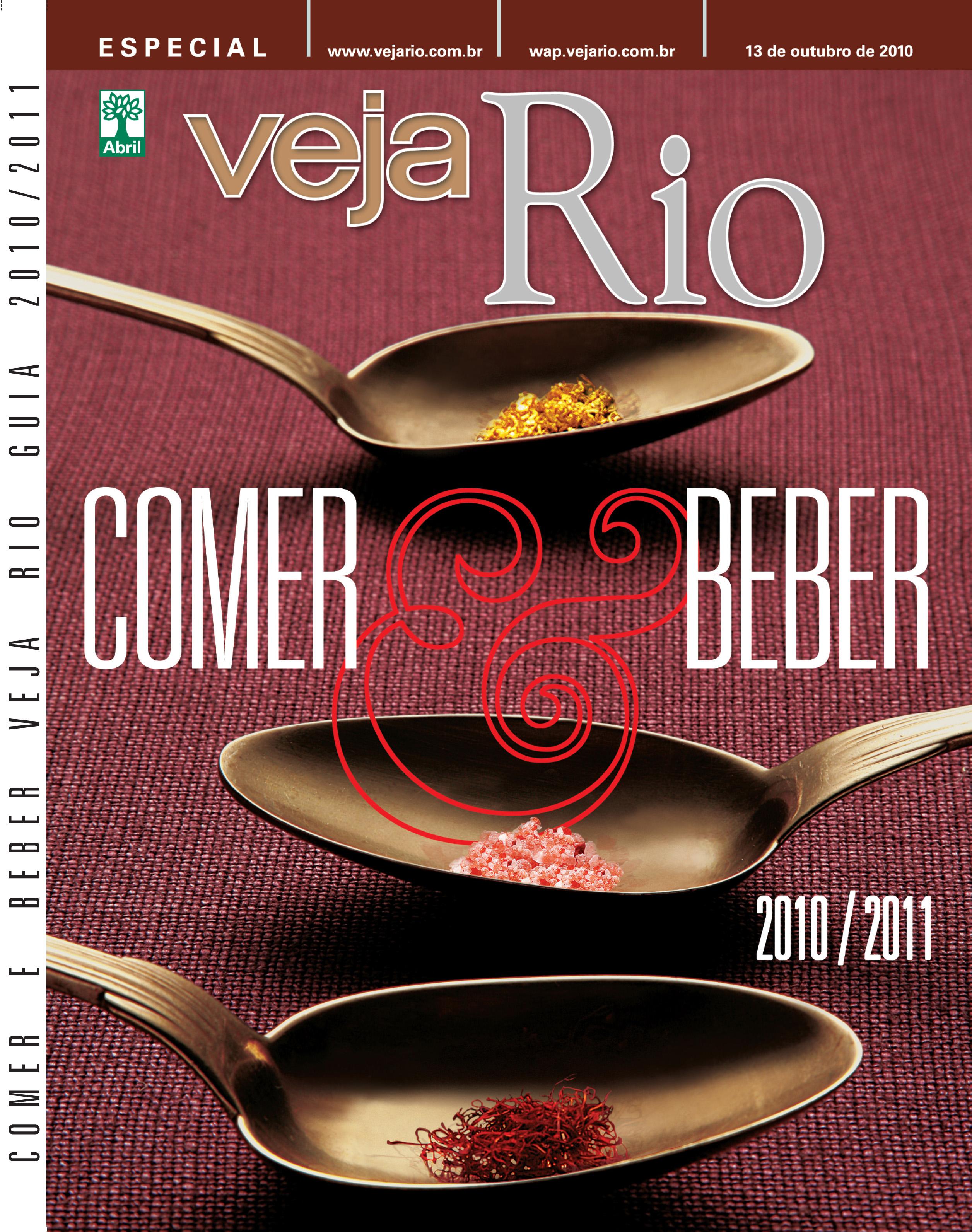 Capa da revista Veja Rio Comer e Beber, edição 2010/2011, outubro de 2010