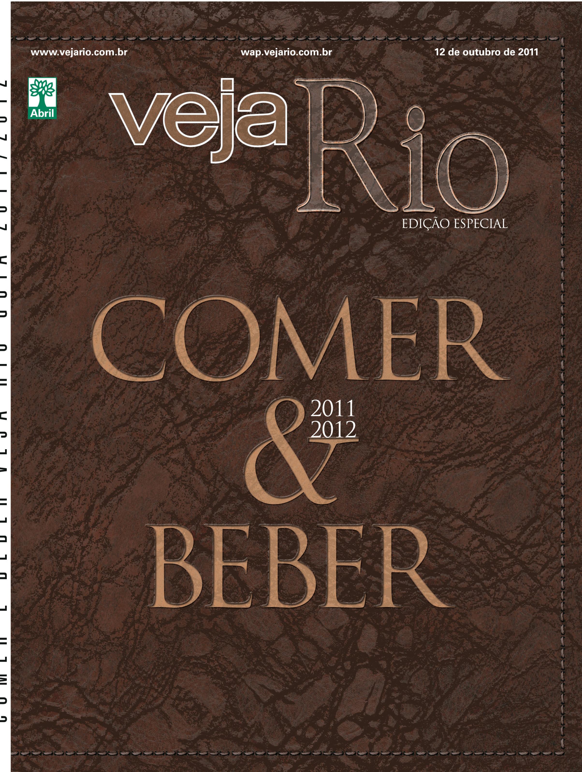 Capa da revista Veja Rio especial Comer e Beber, de 12 de outubro de 2011