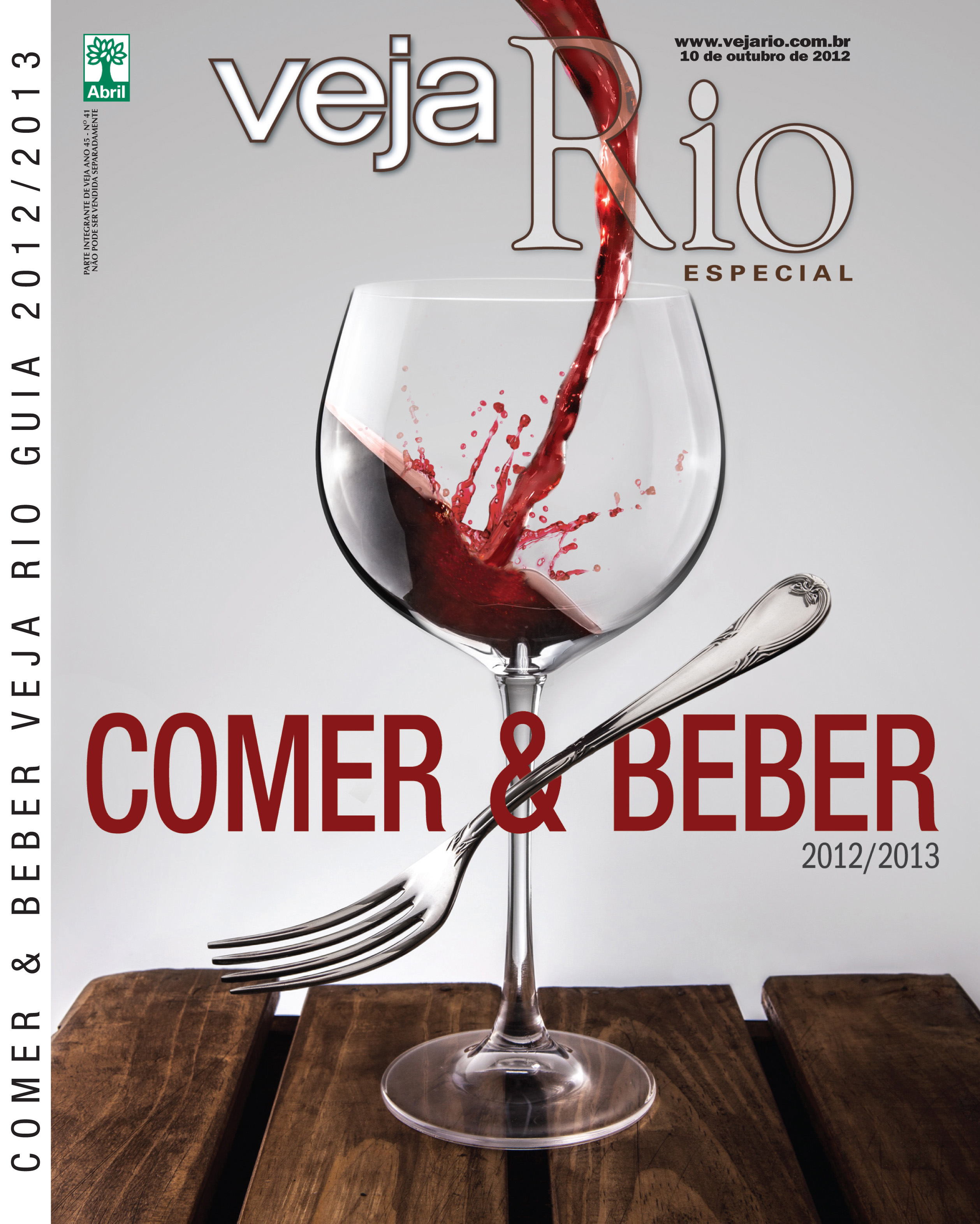 Capa da revista Veja Rio Comer e Beber, de 10 de outubro de 2012