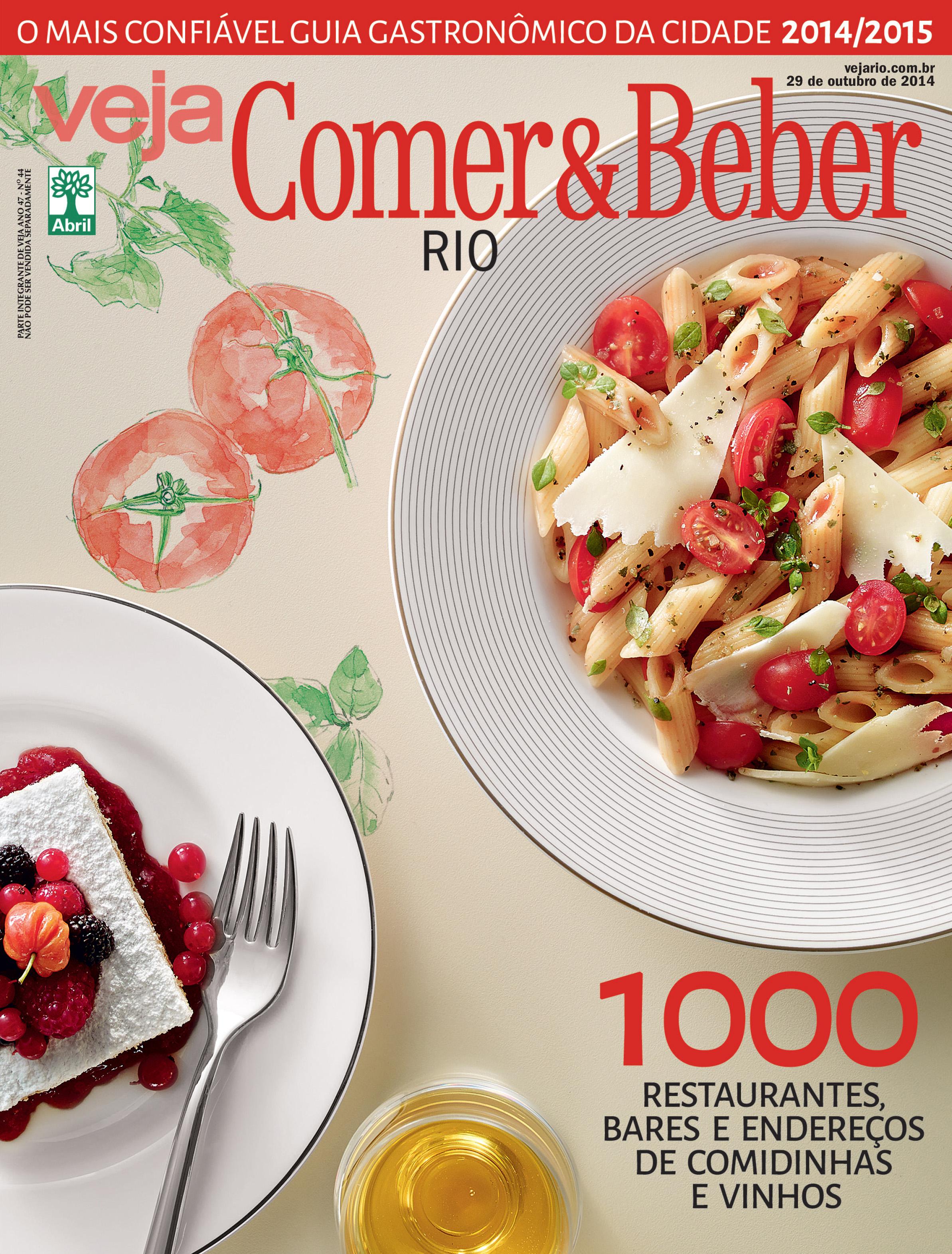 Capa da revista VEJA Rio Comer & Beber, 29 de Outubro de 2014: