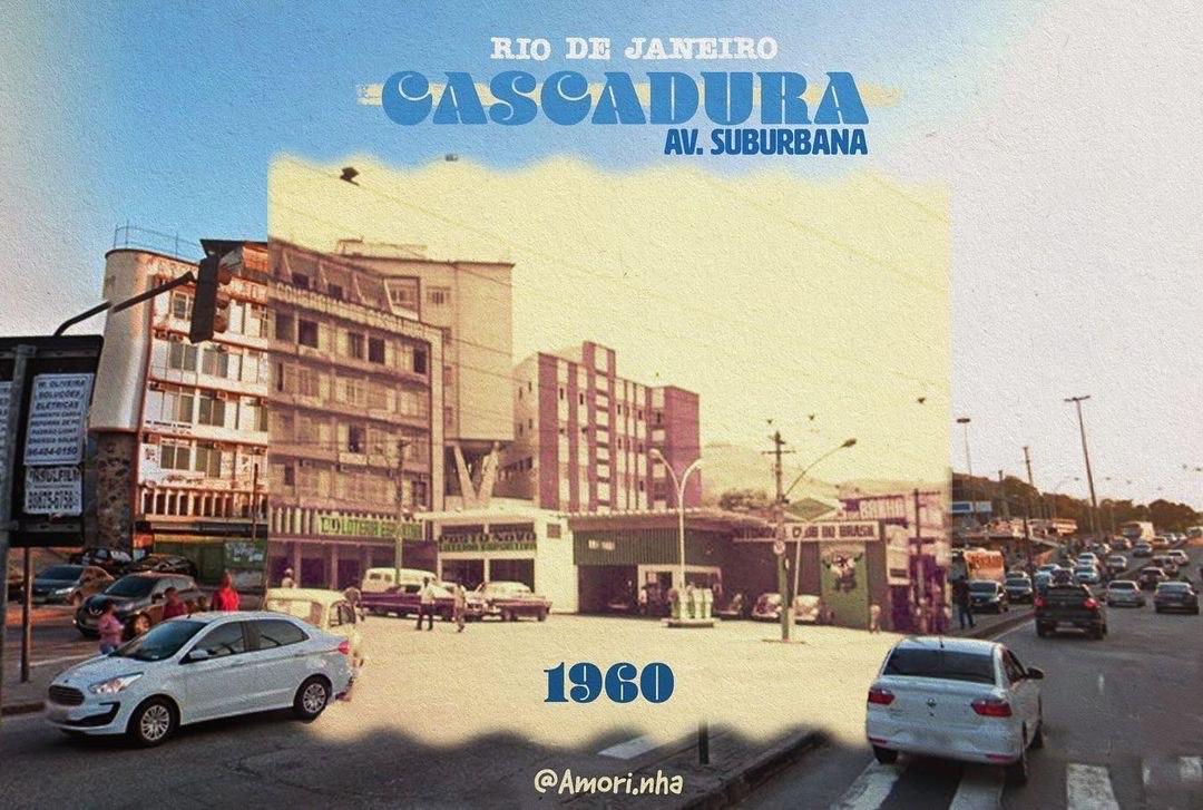 colagem de fotos da Avenida Suburbana, Zona Norte