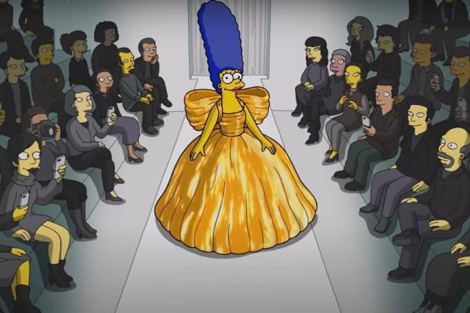 Marge Simpson na Balenciaga Semana de Moda de Paris