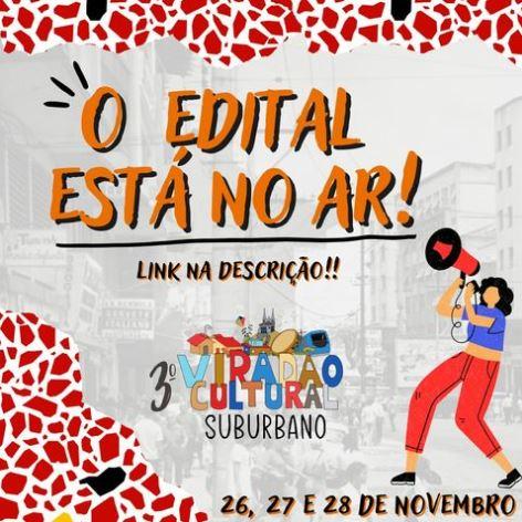 cartaz de divulgação do terceiro Viradão Cultural Suburbano
